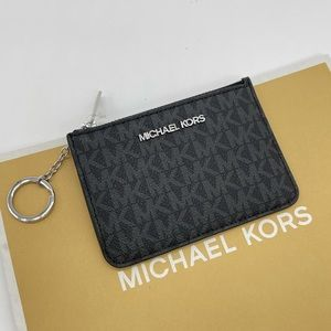 Michael Kors Small TZ Coinpouch w/ID Leather Black